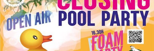 Closing Pool Pary Appartements Benidorm Celebrations™ Music Resort (Adults Only)