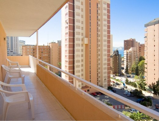 Vue de la terrasse Apartamentos Benidorm Celebrations™ Pool Party Resort (Adults Only)